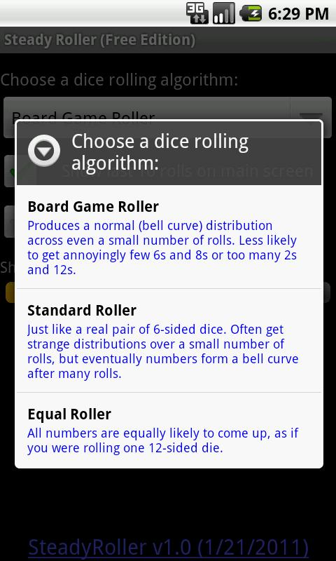 Steady Roller, for Board Games - screenshot