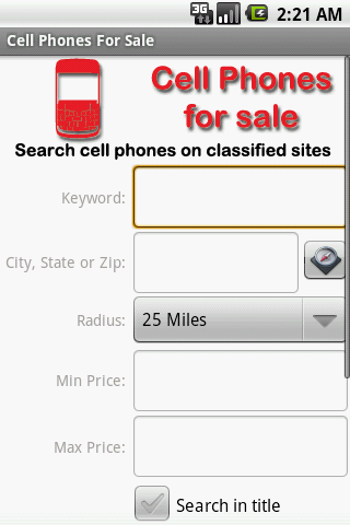 Find Used Cell Phones - screenshot