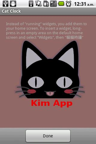 Cat Clock & Weather Forecast - screenshot