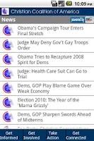 Screenshot of Christian Coalition Mobile