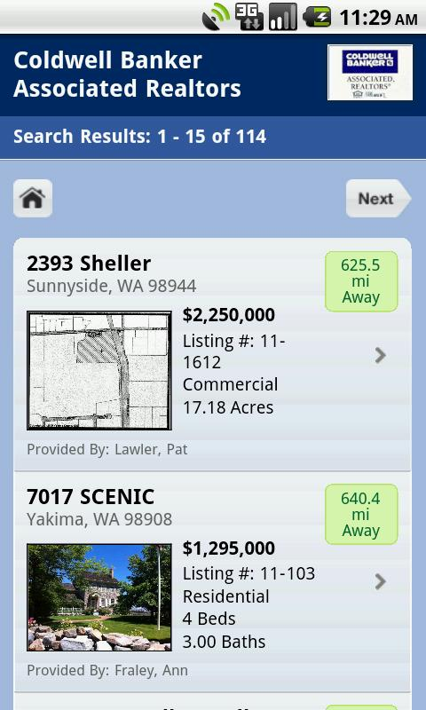 Yakima Homes- screenshot