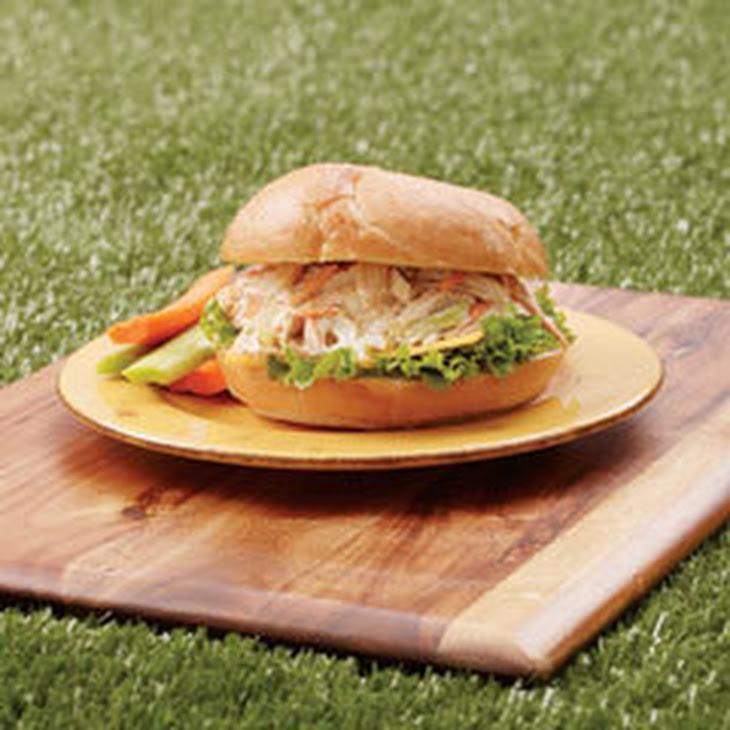 Rotisserie Pulled Chicken Salad Sandwiches Recipe