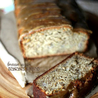 Brown Sugar Banana Bread with Brown Sugar Glaze