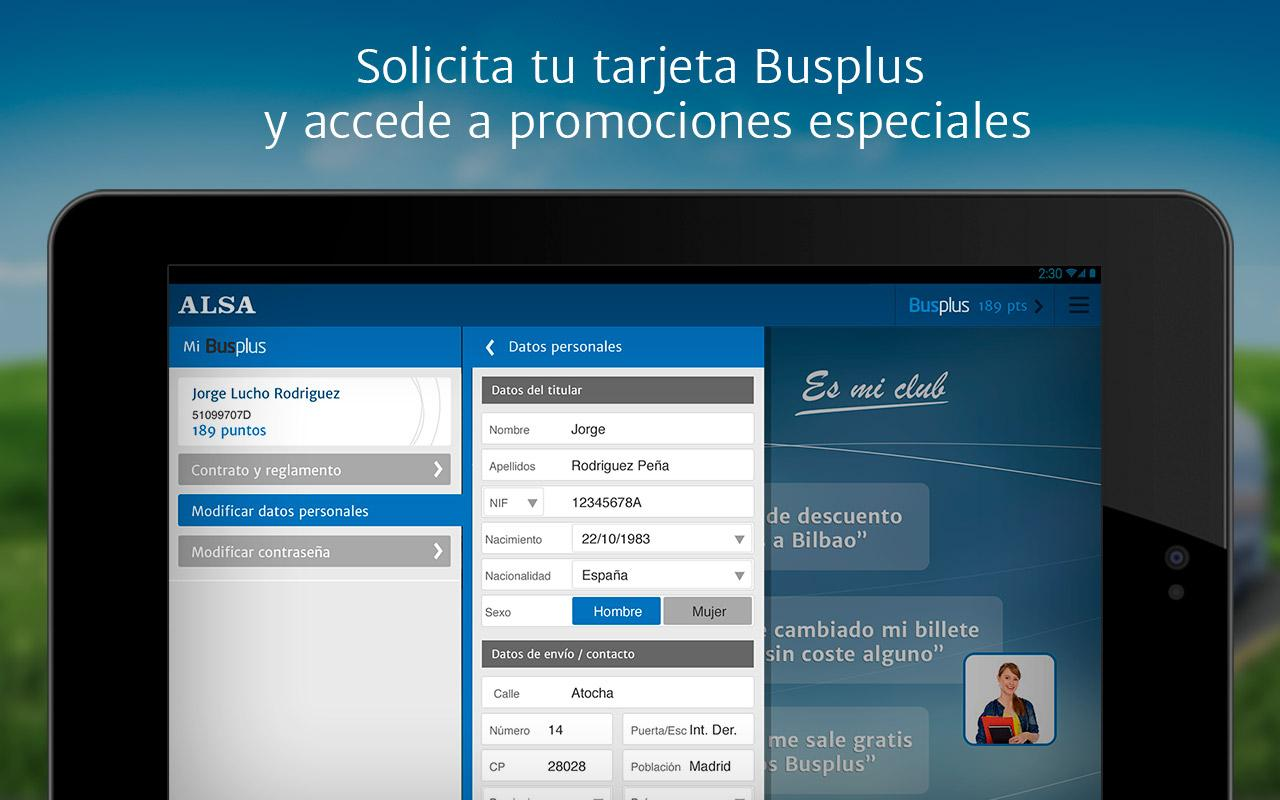 ALSA: compra tu billete de bus: captura de pantalla
