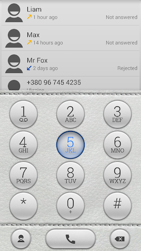 ExDialer Theme White Leather