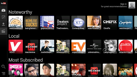YouTube for TV - screenshot thumbnail