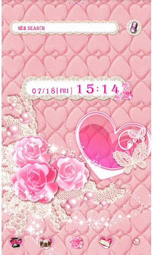 Cute Theme Lovely Pink Hearts 1.1 Windows u7528 1