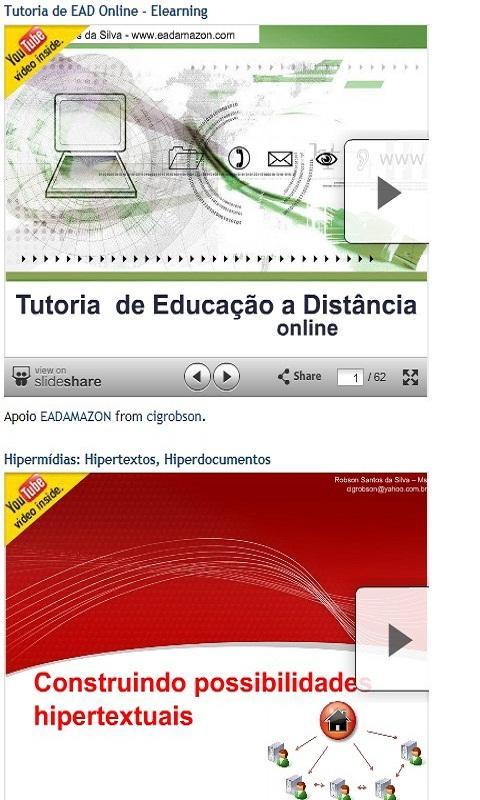 EAD Mobile and E-learning - screenshot