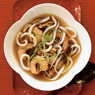 Udon Soup with Shrimp.