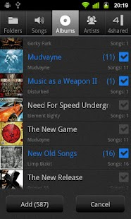 NRG Player - music player - screenshot thumbnail