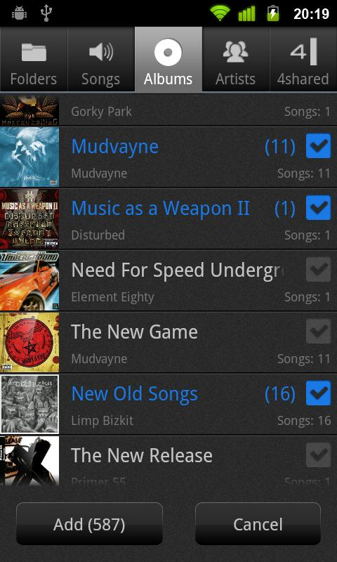 NRG Player - music player - screenshot