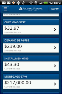 Arundel Federal Mobile Banking - screenshot thumbnail