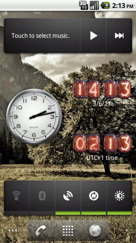Nixie Clock Widget- screenshot