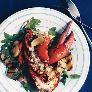 Grilled Lobster and Potatoes with Basil Vinaigrette.