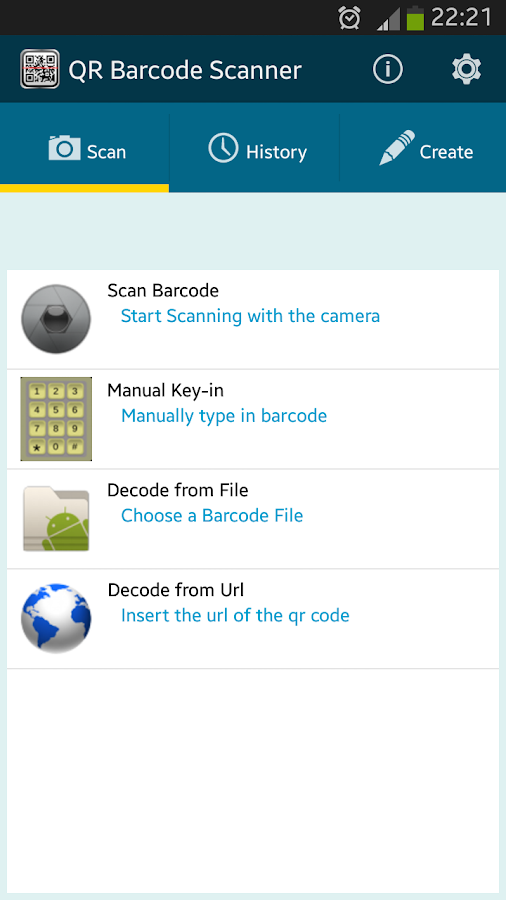 QR BARCODE SCANNER Code Reader - screenshot