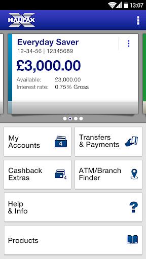 Halifax Mobile Banking app