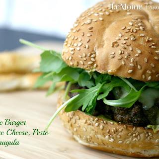 The Ultimate Burger with Gruyere Cheese, Pesto Mayo & Arugula