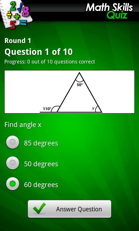 Ultimate Math Skills Quiz- screenshot