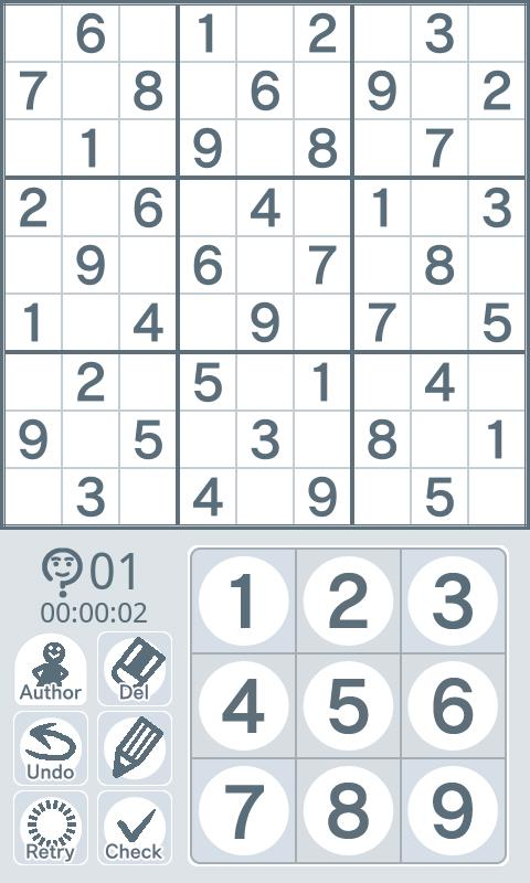 Sudoku by Nikoli Easy 05 - screenshot