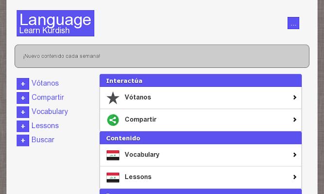 Learn Kurdish for Free - screenshot