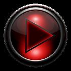 Poweramp skin TITANIUM RED GRID icon