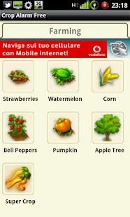 Crop Alarm Free - screenshot thumbnail
