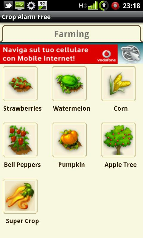 Crop Alarm Free - screenshot