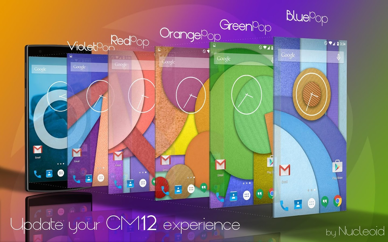 Gmail blue theme - Cm12 Red Pop Theme Screenshot
