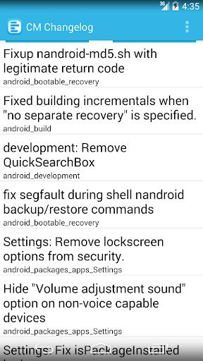 【免費生產應用App】Cyanogenmod Changelog-APP點子