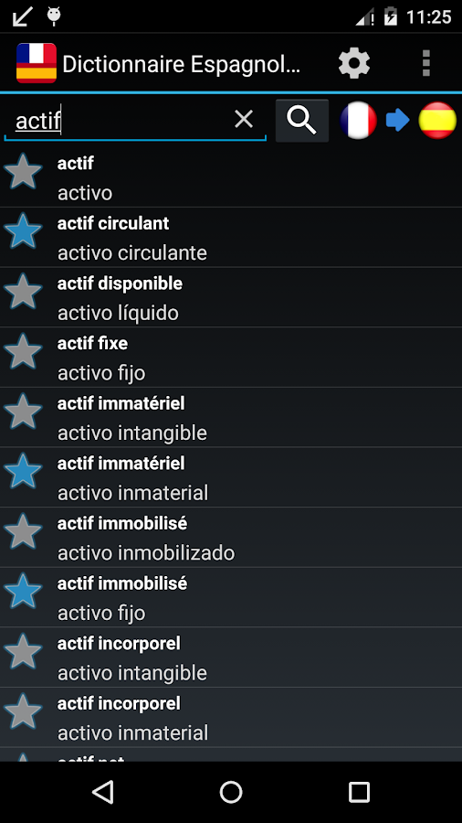 Offline Spanish French Dict. - screenshot