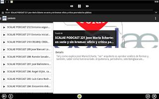 Screenshot of scalae