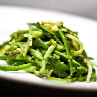 Asparagus Linguine With Mint Pesto