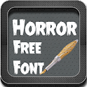 Horror Font Style icon