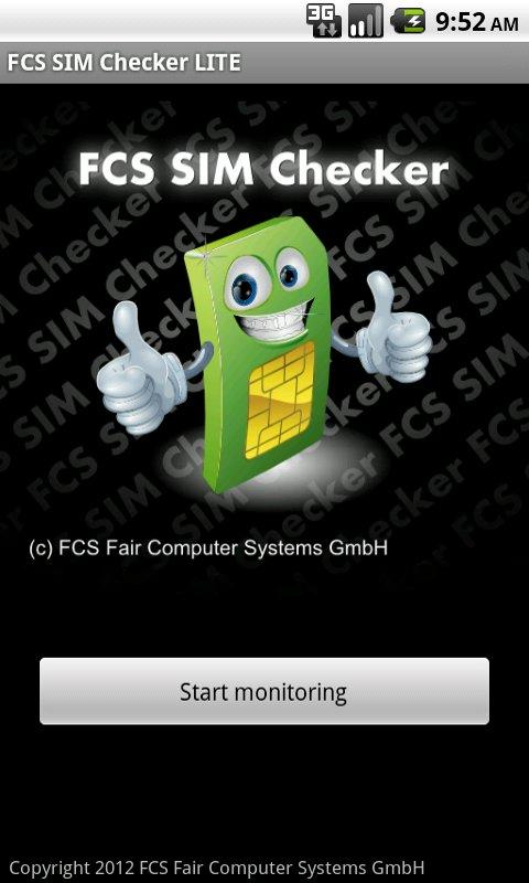 FCS SIM Checker LITE- screenshot