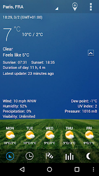 Digital clock and world weather