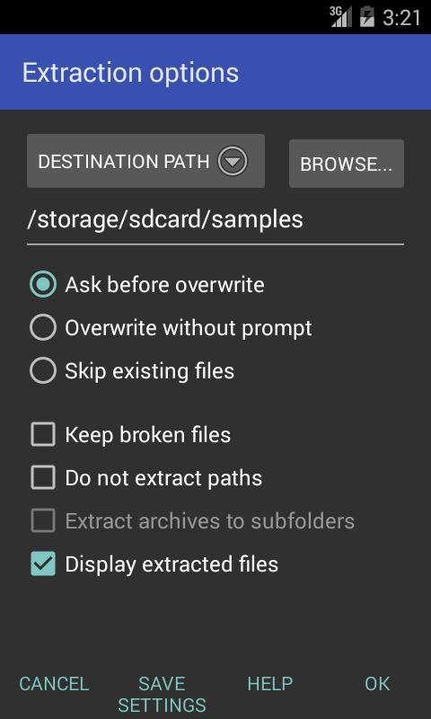 RAR for Android - screenshot