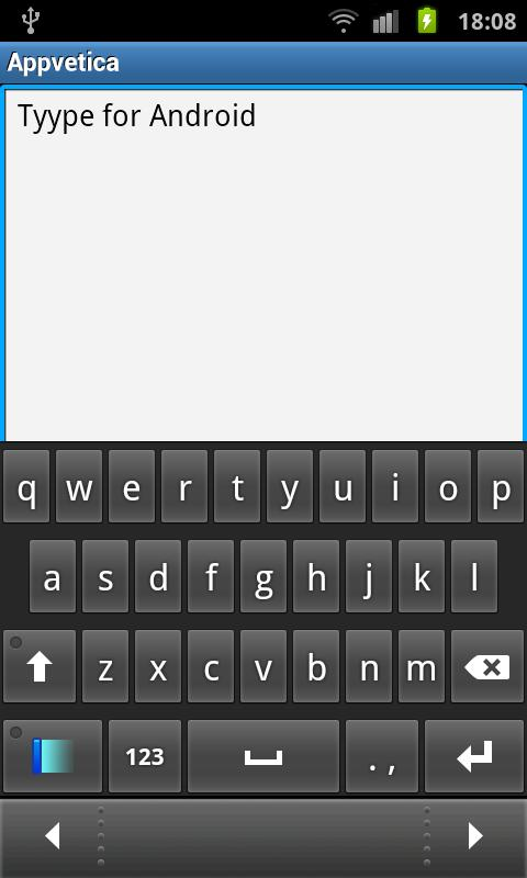 Tyype Keyboard Free- screenshot