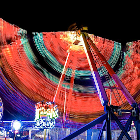 Freak Out by Roy Walter - City,  Street & Park  Amusement Parks ( lights, rides, park, amusement park, action )