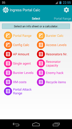 Portal Calc for Ingress