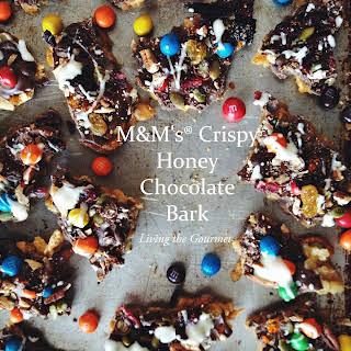 M&M's® Crispy Honey Chocolate Bark.