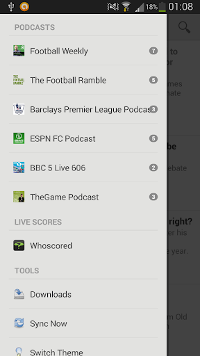 The Football Podcast App