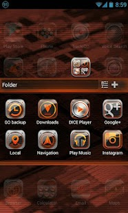 Black Quartz GO Launcher Theme - screenshot thumbnail