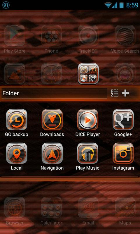 Black Quartz GO Launcher Theme - screenshot