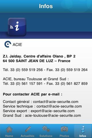 Acie Sécurité- screenshot