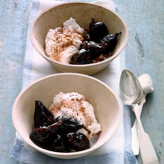 Poached Figs with Fresh Ricotta Cheese.