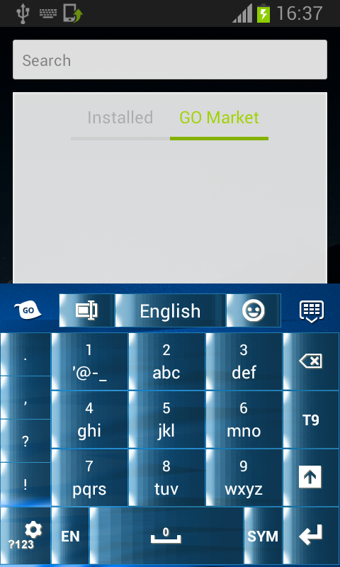Blue Type Keypad - screenshot