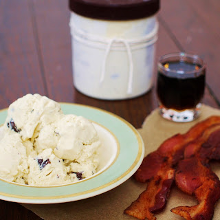 Maple and Chocolate-Bacon Crunch Ice Cream.