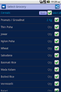 Indian Grocery Shopping List screenshot 3