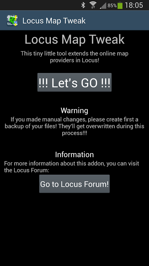Locus - addon Map Tweak - screenshot