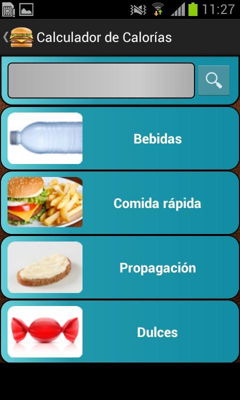 Calculadora de calorías free: captura de pantalla